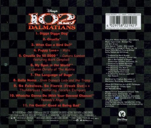 Bild 2: 102 Dalmatians (2000, Disney), Lauren Christy, Thunderpass feat. Jocelyn Enriquez, Nobody's Angel..