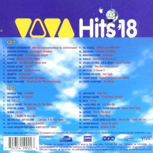 Bild 2: Viva Hits 18 (2002), Herbert Grönemeyer, Groove Coverage, Jennifer Lopez, Loona, Atomic Kitten, Alex Butcher..